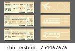 bus plane train ticket concept... | Shutterstock .eps vector #754467676