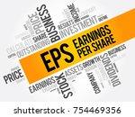eps   earnings per share word... | Shutterstock .eps vector #754469356
