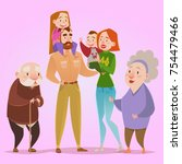 happy family. dad  mom  son ...   Shutterstock .eps vector #754479466