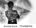 abstract city silhouettes | Shutterstock . vector #754488496