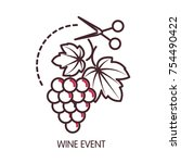 wine event promotional poster... | Shutterstock .eps vector #754490422