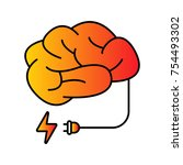 mind power vector icon | Shutterstock .eps vector #754493302