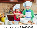 happy family funny kids are... | Shutterstock . vector #754496362