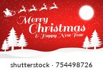 christmas greeting card. merry...   Shutterstock .eps vector #754498726