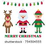 christmas isolated cartoon... | Shutterstock .eps vector #754504555