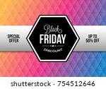 black friday design element... | Shutterstock .eps vector #754512646