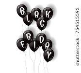 black friday air balloons....   Shutterstock .eps vector #754515592