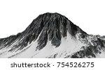 beautiful mountain peak with... | Shutterstock . vector #754526275