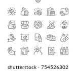finance well crafted pixel... | Shutterstock .eps vector #754526302