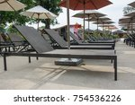 daybed  on  the beach in water... | Shutterstock . vector #754536226