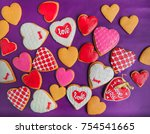 group of colorful heart shaped... | Shutterstock . vector #754541665