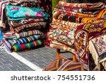 eastern carpets on the street | Shutterstock . vector #754551736