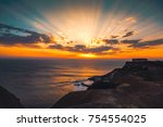 beautiful sunset colors of...   Shutterstock . vector #754554025