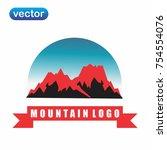 mountain logo vector | Shutterstock .eps vector #754554076