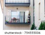 modern balconies at home | Shutterstock . vector #754555036