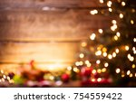 christmas holiday blurred... | Shutterstock . vector #754559422