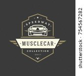 sport car logo template vector... | Shutterstock .eps vector #754567282