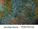 abstract multicolor grunge... | Shutterstock . vector #754570732