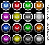 stereo system white icons in...   Shutterstock .eps vector #754580452