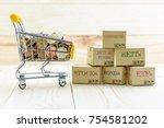 private portfolio and wealth... | Shutterstock . vector #754581202