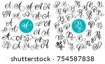 set of hand drawn vector... | Shutterstock .eps vector #754587838