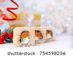Holidays Food. Christmas Sushi...