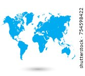 color world map vector | Shutterstock .eps vector #754598422