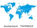 color world map vector | Shutterstock .eps vector #754598425