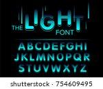 vector of modern stylized font... | Shutterstock .eps vector #754609495