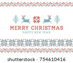 merry christmas and happy new... | Shutterstock .eps vector #754610416