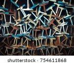 textures steel t bar   | Shutterstock . vector #754611868