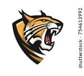 lynx wildcat logo mascot   Shutterstock .eps vector #754613992