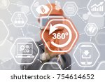 360 degree virtual augmented...   Shutterstock . vector #754614652