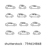 car icons set | Shutterstock .eps vector #754614868