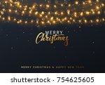 christmas background with... | Shutterstock .eps vector #754625605