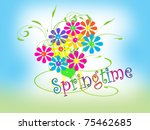 bouquet of flowers   springtime | Shutterstock . vector #75462685