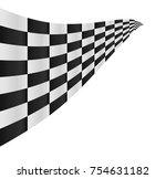 checkered flag background...   Shutterstock . vector #754631182