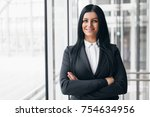 successful confident young... | Shutterstock . vector #754634956