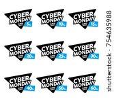cyber monday designs vector set....   Shutterstock .eps vector #754635988