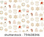 hand drawn vector abstract fun... | Shutterstock .eps vector #754638346
