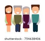happy family. icon | Shutterstock . vector #754638406