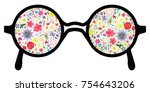 vector illustration for glasses ... | Shutterstock .eps vector #754643206