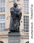 the martin luther monument in... | Shutterstock . vector #754643716
