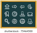 website and computer icons | Shutterstock .eps vector #75464500