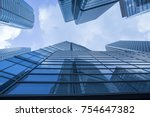 modern building office at... | Shutterstock . vector #754647382