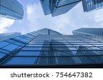modern building office at... | Shutterstock . vector #754647382