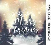 merry christmas vector card | Shutterstock .eps vector #754647622