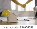 teamwork concept  architecture... | Shutterstock . vector #754650532
