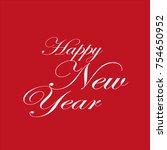 happy new year | Shutterstock .eps vector #754650952