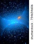 abstract futuristic blue bokeh... | Shutterstock . vector #754654606